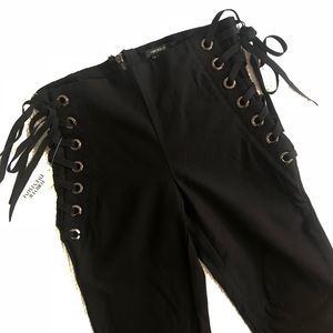 NWT FOREVER 21 lace up pants